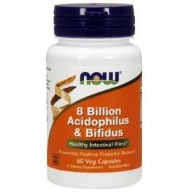 NOW 8 Billion Acidophilus & Bifidus Positive Probiotic Balance 60 VEG capsules