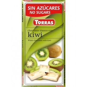 Sugar Free White Chocolate with Kiwi (75g)