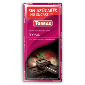 Sugar Free Dark Chocolate with Strawberry (75g)