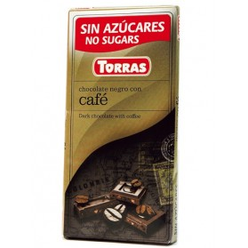 Sugar Free Dark Chocolate with Coffee Beans(75g)