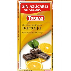 Sugar Free Dark Chocolate with Orange(75g)