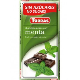 Sugar Free Dark Chocolate with Mint(75g)