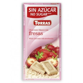 Sugar Free White Chocolate with Strawberry (75g)