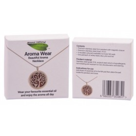 "Aromatherapy Necklace model nr2 ""Tree with Heart"""