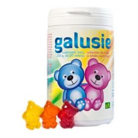 GAL GALUSIE Żelki z witaminami dla dzieci 250g, okolo 50 żelków
