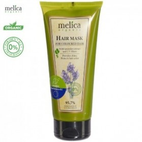Melica Organic Mask for coloured hair with Lavender extract and UV filters 200ml