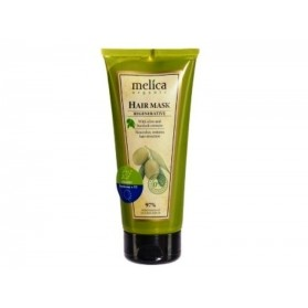 Melica Organic Hair Mask, Regenerative with olive and burdock extracts 200ml
