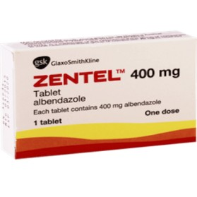 Zentel Albendazole Tablet 400mg, Parasites Remedies