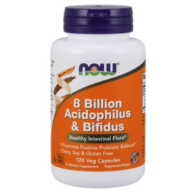 NOW 8 Billion Acidophilus & Bifidus Positive Probiotic Balance 120 VEG capsules