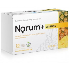 Narum + pineapple 200mg, Lactobacillus Acidophilus, 30 capsules