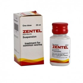 Zentel Albendazol oral suspension 20ml